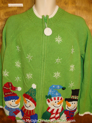 Lime Green Great Cheap Ugly Christmas Sweater