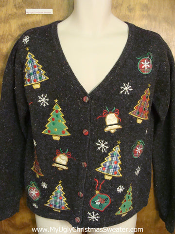 Tacky Trees 2sided Cheap Ugly Christmas Sweater