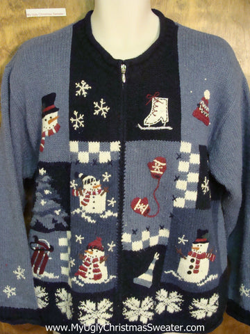 Winter Snowflakes Horrible Christmas Sweater