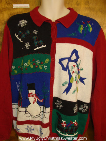 80s Hot Mess Horrible Christmas Sweater