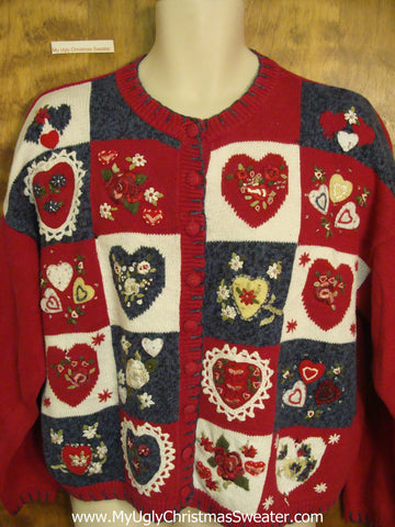 Valentine Hearts Festive Holiday Sweater