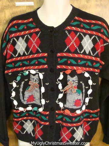 Crazy Cat Lady Horrible Christmas Sweater