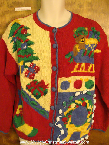Red Green and Yellow Horrible Christmas Sweater
