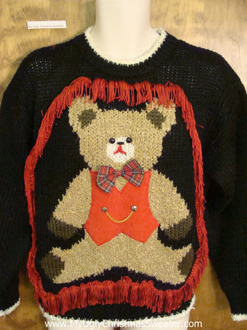 Sweet Sad Bear Christmas Sweater Pullover
