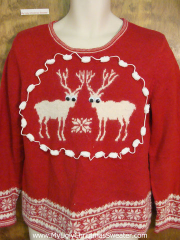 Super Twin Reindeer Nordic Christmas Sweater Pullover