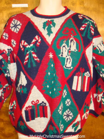 80s Amazing Yet Horrible Christmas Sweater Pullover