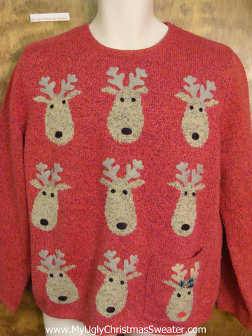 Tic Tac Toe Reindeer Games Horrible Christmas Sweater Pullover