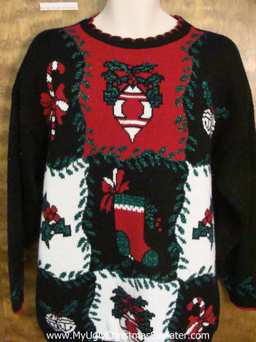 Horrible 80s Acrylic Christmas Sweater Pullover