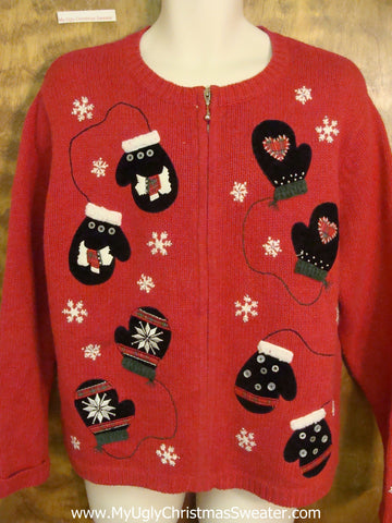 Runaway Mittens Horrible Christmas Sweater