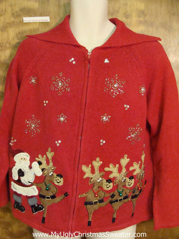 Dancing Reindeer Horrible Christmas Sweater