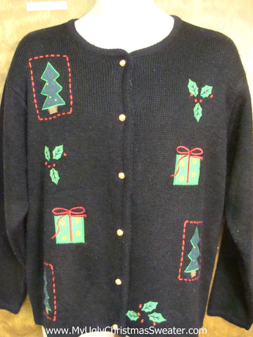 Trees, Gifts, and Ivy Horrible Christmas Sweater