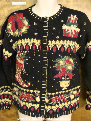 Two Sided Crazy Horrible Christmas Sweater