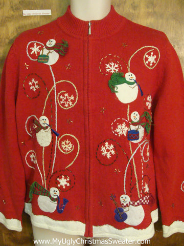 Exploding Farting Snowmen Horrible Christmas Sweater