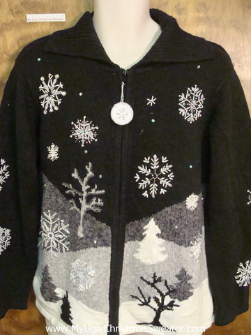 Black and White Horrible Christmas Sweater