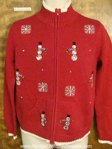 Skinny Snowmen Horrible Christmas Sweater