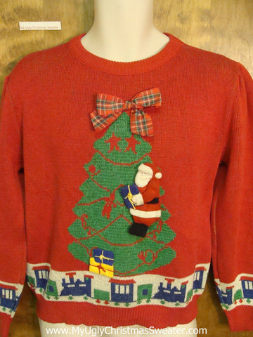 80s Toy Train Horrible Christmas Sweater Pullover