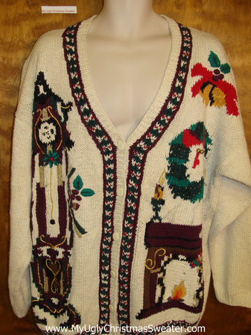 Horrible 80s Mess Ugly Christmas Sweater Cardigan