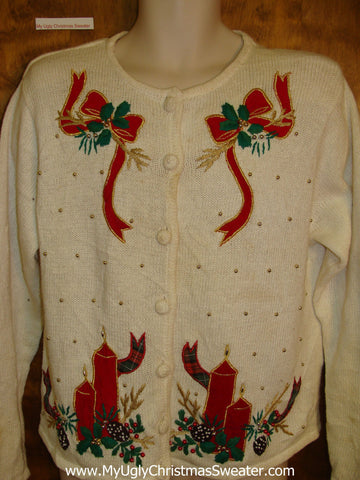 Super Cheap Messed Up Ugly Christmas Sweater Cardigan