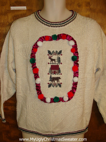 Simple Tacky Ugly Christmas Sweater Pullover