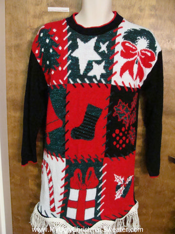80s Acrylic Mess Ugly Christmas Sweater Pullover