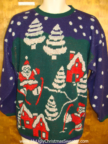 80s Fantastic Horrible Ugly Christmas Sweater Pullover