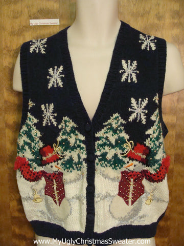 Winter Themed Ugly Christmas Sweater Vest