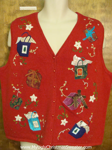 Gift Boxed Themed Ugly Christmas Sweater Vest