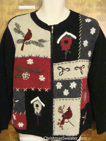Red Cardinal Birds Ugly Christmas Sweater