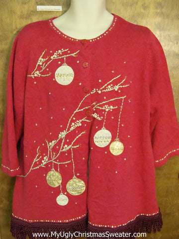 Bling Ornaments Ugly Christmas Sweater