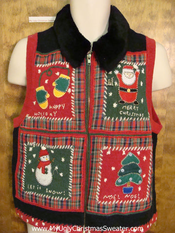Super Hideous Ugly Christmas Sweater Vest