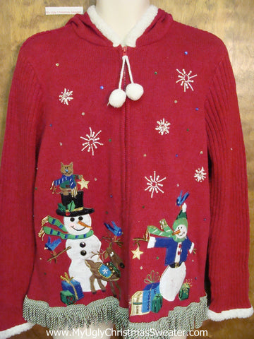 Super Cute Ugly Christmas Sweater Hoody