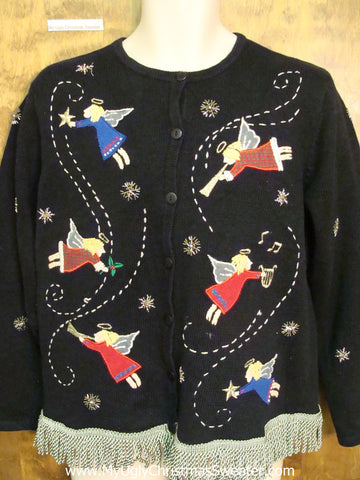 Flying Angel Party Ugly Christmas Sweater
