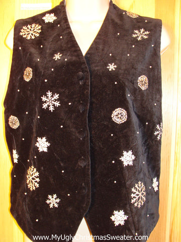 Tacky Ugly Christmas Sweater Party Vest (f362)