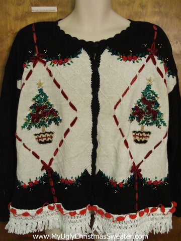 Dueling Trees Ugly Christmas Sweater