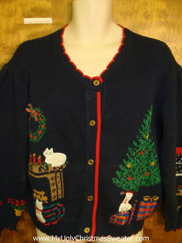 Cats and Dogs Ugly Christmas Sweater