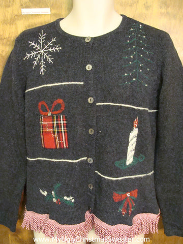 Ugly Christmas Sweater with Awesome Fringe