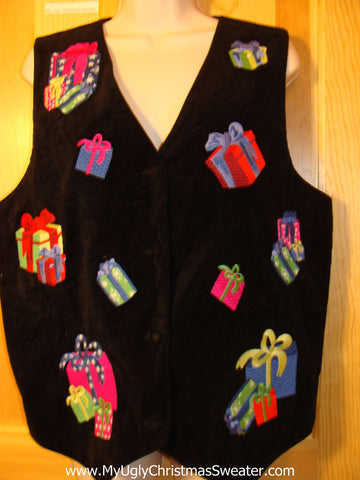 Tacky Ugly Christmas Sweater Party Vest (f363)