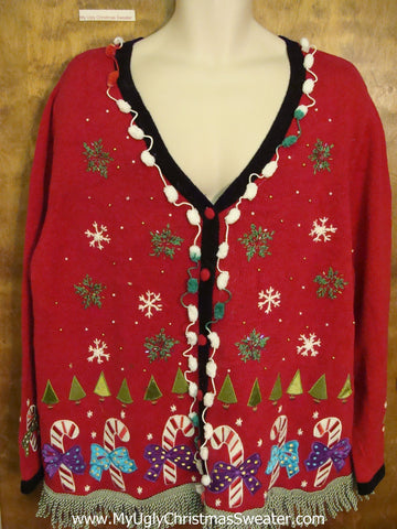 Ugly Christmas Sweater with Candy Canes