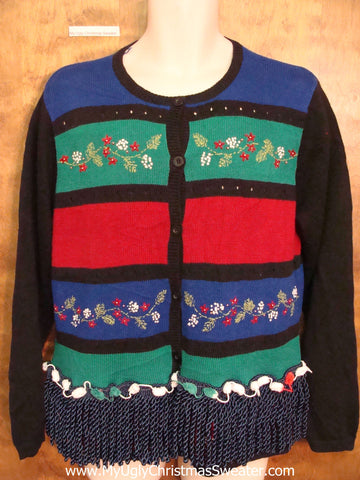 Eye Numbing Stripes Ugly Christmas Sweater