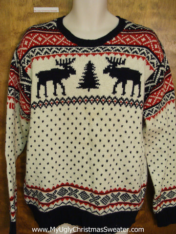 Mens 2010 Olympic Ralph Lauren Ugly Christmas Sweater with Reindeer