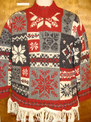 Patchwork Snowflakes Ugly Christmas Sweater