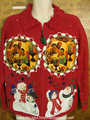 Kwanzaa Themed Best Ugly Christmas Sweater