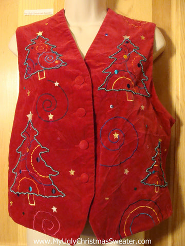 Tacky Ugly Christmas Sweater Party  Vest (f366)