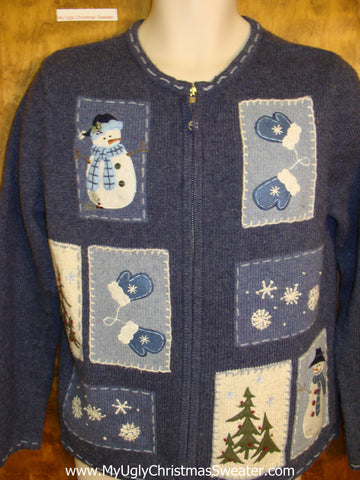 Snowmen and Mittens Ugly Christmas Sweater