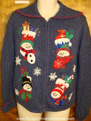 Four Horrible Stockings Ugly Christmas Sweater