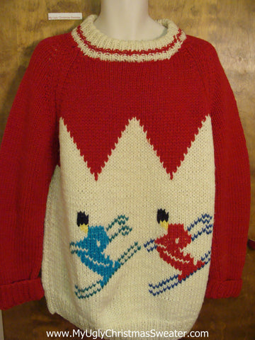 Vintage Ski Ugly Christmas Sweater Pullover