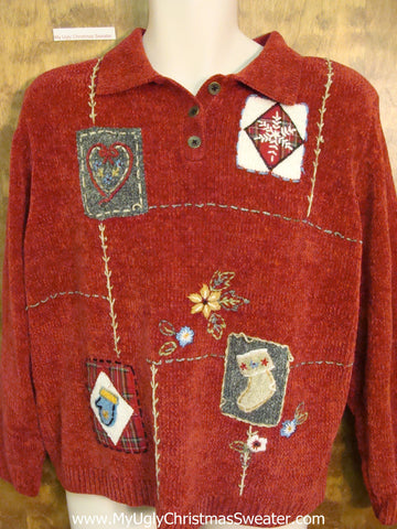 Hearts and Mittens Ugly Christmas Sweater Pullover