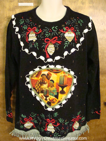 HAPPY KWANZAA Ugly Christmas Sweater Pullover