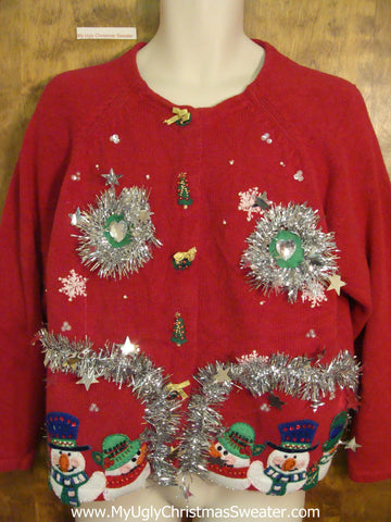 Glitter Garland Themed Ugly Christmas Jumper