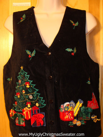 Tacky Ugly Christmas Sweater Party  Vest (f370)